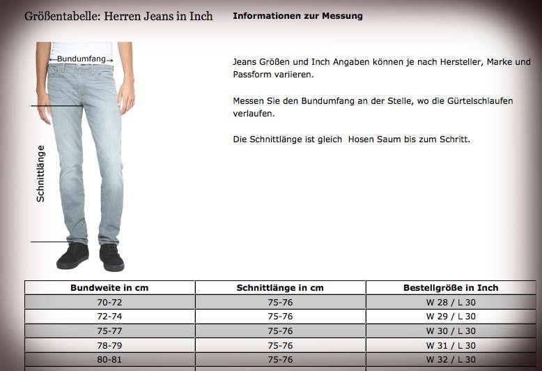 246317d08270 Welche ist meine richtige Größe? – Jeans-Meile.de